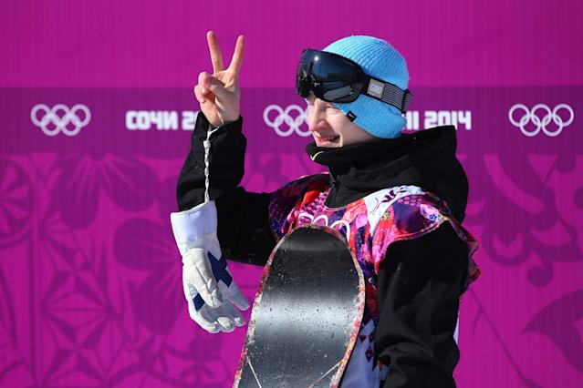 SOCHI, RUSSIA - FEBRUARY 08: Peetu Piiroinen of Finland reacts after his first run during the Snowboard Men's Slopestyle Final during day 1 of the Sochi 2014 Winter Olympics at Rosa Khutor Extreme Park on February 8, 2014 in Sochi, Russia. (Photo by Julian Finney/Getty Images)