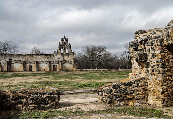 The <strong>San Antonio Missions</strong> are located along the San Antonio River. The four 18th-century Spanish Colonial missions are part of a National Park.