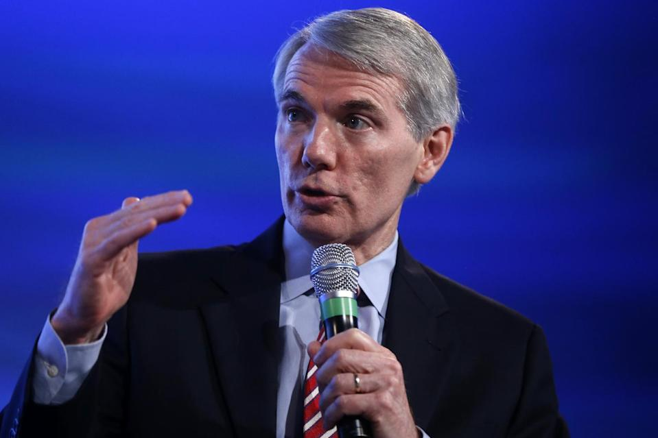 Senate Budget Committee member Sen. Rob Portman, R-Ohio, speaks at the 2014 Fiscal Summit organized by the Peter G. Peterson Foundation in Washington, Wednesday, May 14, 2014. Lawmakers and policy experts discussed America's long term debt and economic future. (AP Photo)