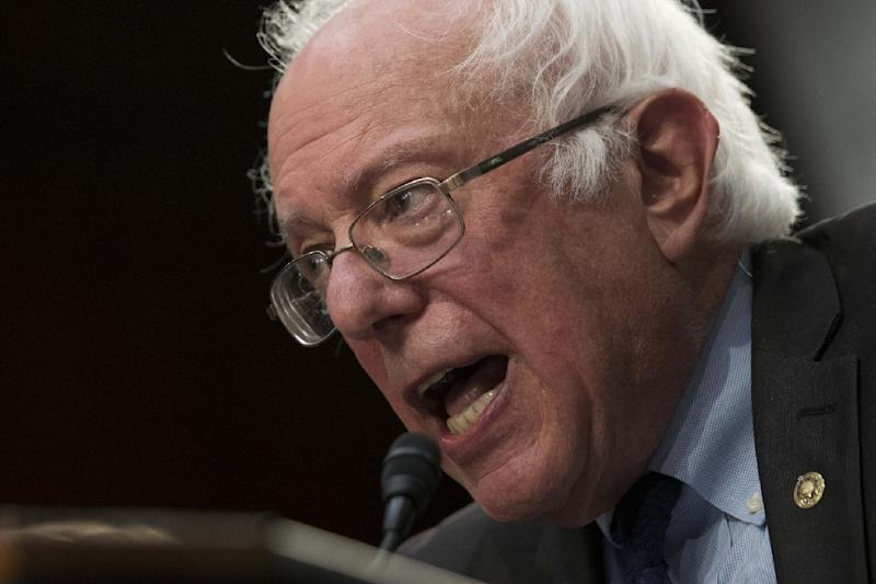 """US Senator Bernie Sanders unveils his """"Medicare for All"""" legislation that would provide government-sponsored health care for all Americans (AFP Photo/)"""