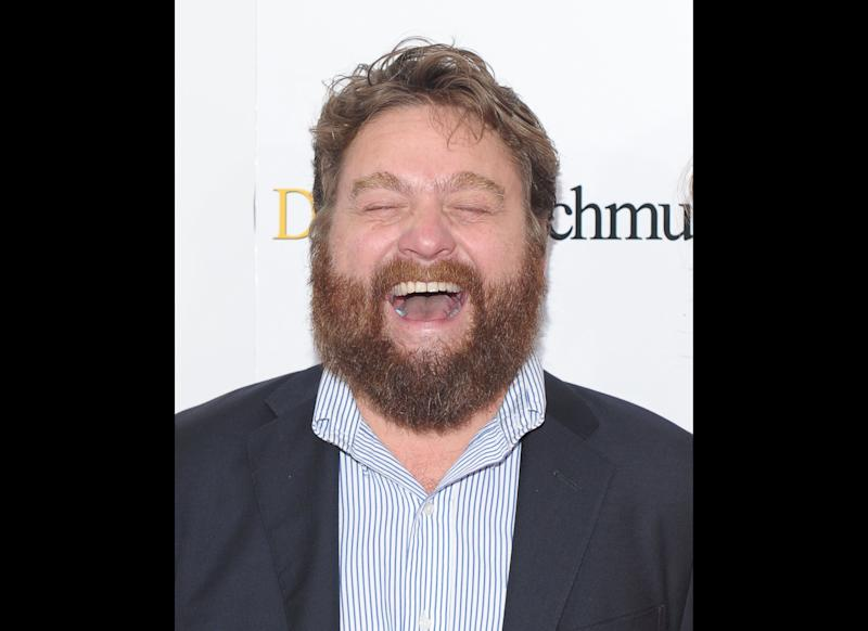 Zach Galifianakis attends the 'Dinner For Schmucks' premiere at the Ziegfeld Theatre on July 19, 2010 in New York City. (Photo by Michael Loccisano/Getty Images)