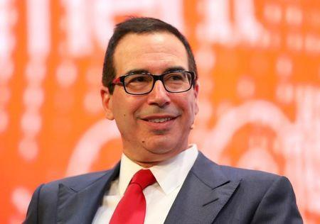 US Treasury's Mnuchin opposes breakup of banks