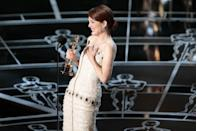 "<p>After five nominations, Julianne Moore finally took home her first Oscar for playing a woman with <a href=""https://www.goodhousekeeping.com/life/money/a39266/alzheimers-debt/"" rel=""nofollow noopener"" target=""_blank"" data-ylk=""slk:Alzheimer's"" class=""link rapid-noclick-resp"">Alzheimer's</a> in <em><a href=""https://www.amazon.com/dp/B00ST1P4SU?ref=sr_1_1_acs_kn_imdb_pa_dp&qid=1547580609&sr=1-1-acs&autoplay=0&tag=syn-yahoo-20&ascsubtag=%5Bartid%7C10055.g.5132%5Bsrc%7Cyahoo-us"" rel=""nofollow noopener"" target=""_blank"" data-ylk=""slk:Still Alice"" class=""link rapid-noclick-resp"">Still Alice</a></em>.</p>"