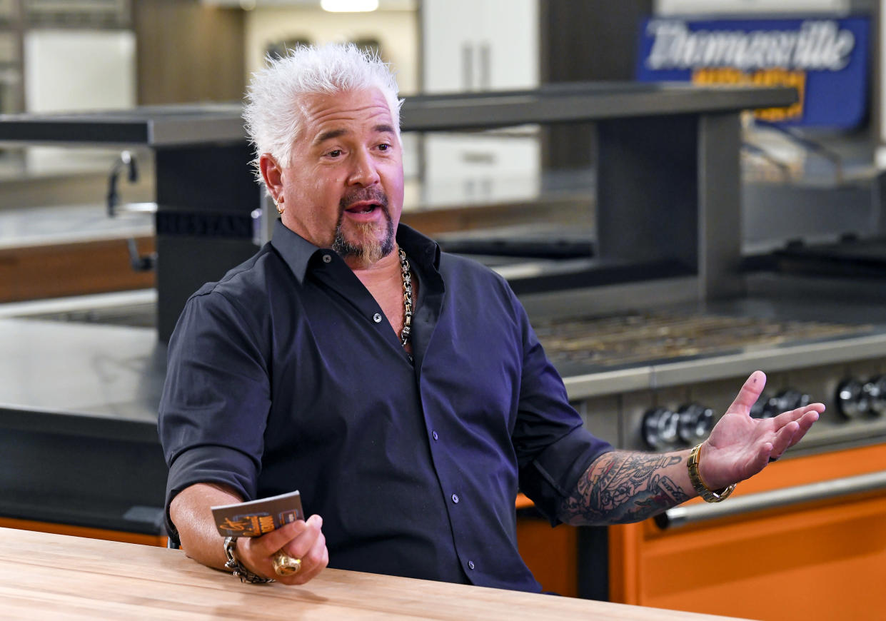 ST HELENA, CALIFORNIA - JUNE 12: In this image released on June 12, Guy Fieri speaks at Guy Fieri's Restaurant Reboot at The Culinary Institute of America in St Helena, California. (Photo by Steve Jennings/Getty Images)