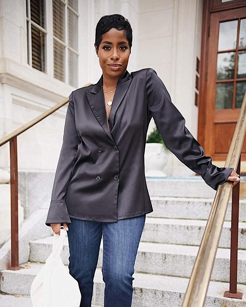 <p><span>The Drop Black Double-Breasted Shirt by @highlowluxxe</span> ($55)</p>