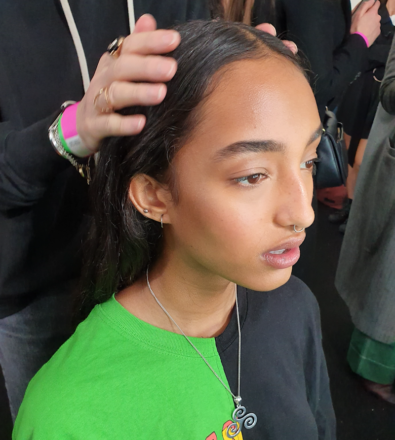 It was all about beautiful skin backstage (Naomi May)