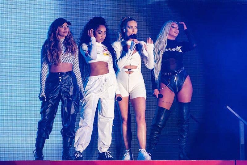 Jade Thirlwall, Leigh-Anne Pinnock, Perrie Edwards and Jesy Nelson of Little Mix performs on stage during day 3 of Fusion Festival 2019 on September 01, 2019 in Liverpool, England. (Photo by Joseph Okpako/WireImage)