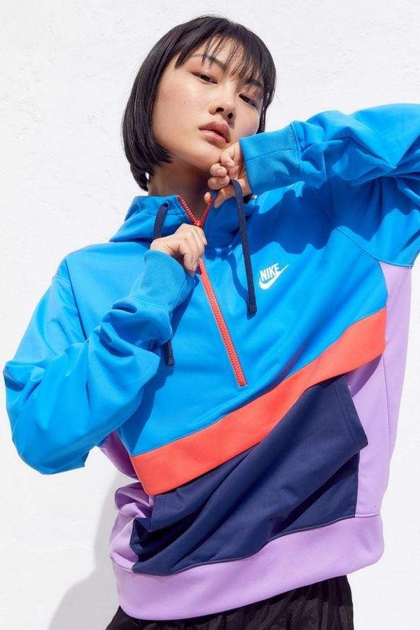 "<p>This vibrant <a href=""https://www.popsugar.com/buy/Nike-Colorblock-Hooded-Half-Zip-Sweatshirt-477470?p_name=Nike%20Colorblock%20Hooded%20Half-Zip%20Sweatshirt&retailer=urbanoutfitters.com&pid=477470&price=60&evar1=fab%3Auk&evar9=46477063&evar98=https%3A%2F%2Fwww.popsugar.com%2Ffashion%2Fphoto-gallery%2F46477063%2Fimage%2F46477069%2FNike-Colorblock-Hooded-Half-Zip-Sweatshirt&list1=shopping%2Curban%20outfitters%2Cathleisure&prop13=api&pdata=1"" rel=""nofollow"" data-shoppable-link=""1"" target=""_blank"" class=""ga-track"" data-ga-category=""Related"" data-ga-label=""https://www.urbanoutfitters.com/shop/nike-colorblock-hooded-half-zip-sweatshirt?category=womens-new-arrivals&amp;color=040&amp;type=REGULAR"" data-ga-action=""In-Line Links"">Nike Colorblock Hooded Half-Zip Sweatshirt</a> ($60) is a head-turner.</p>"