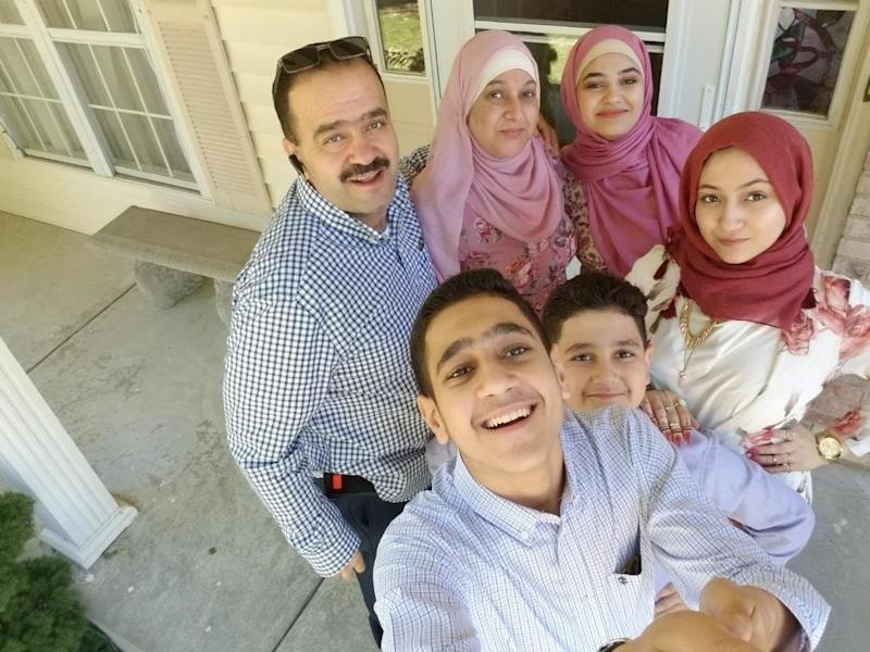 Salsabel poses with her family. (Mohammad Fares)