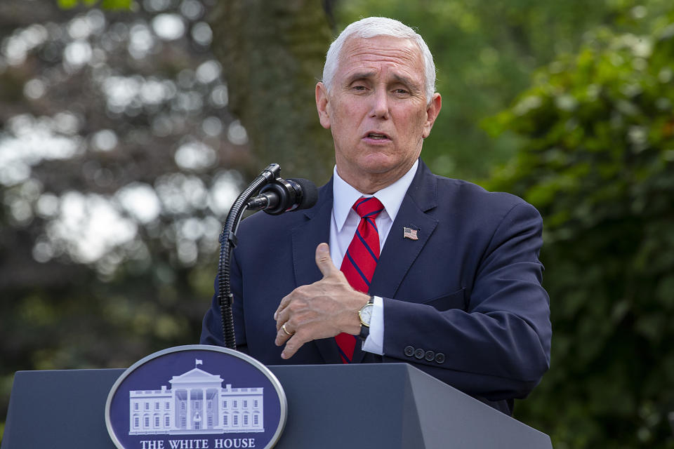 Vice President Mike Pence delivers an update on the nations coronavirus testing strategy in the Rose Garden of the White House on September 28, 2020 in Washington, DC. (Tasos Katopodis/Getty Images)