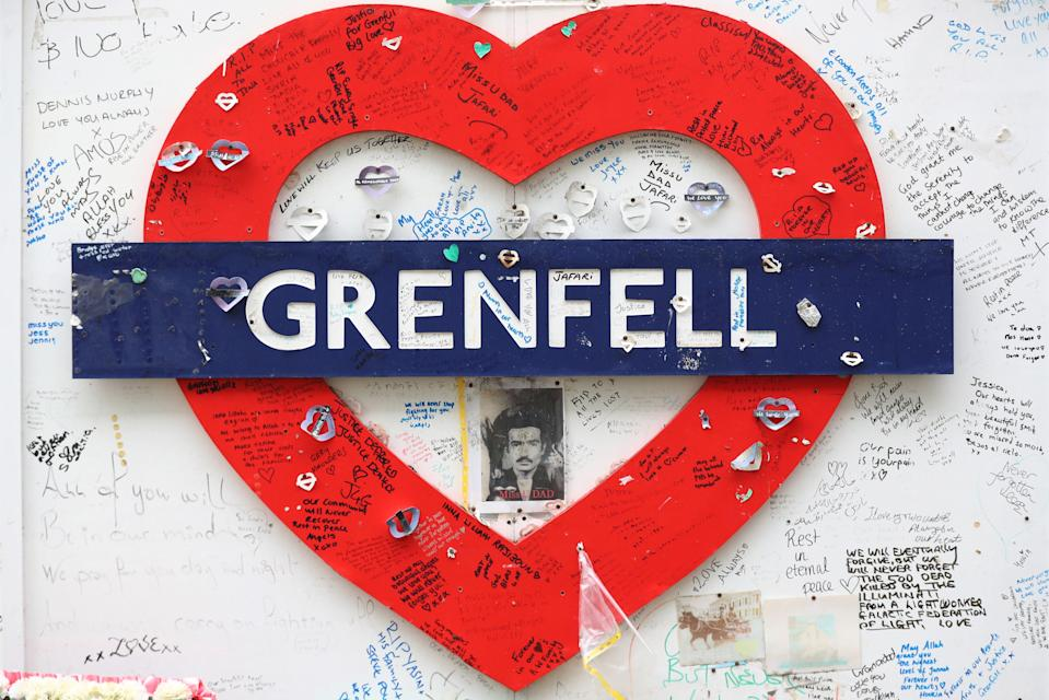 Grenfell Tower mosaic (PA Wire)