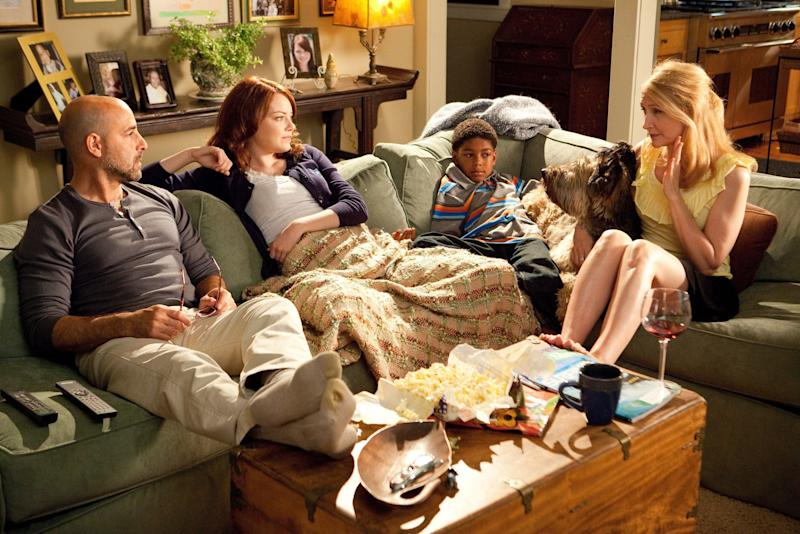 'I found [the script] rather irresistible': Patricia Clarkson (right) with Stanley Tucci, Emma Stone and Bryce Clyde JenkinsRex Features