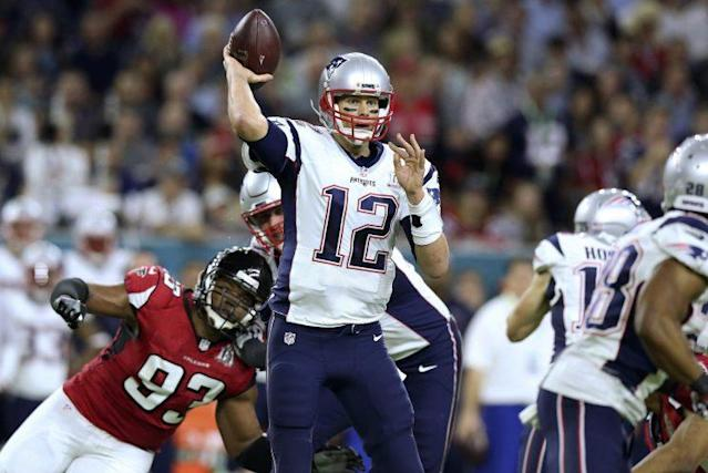 Tom Brady and the Patriots will have a Super Bowl rematch with the Falcons this season. (AP)