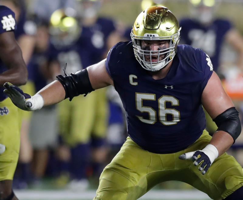 Notre Dame's Quenton Nelson was the highest drafted guard since 1985. (AP)