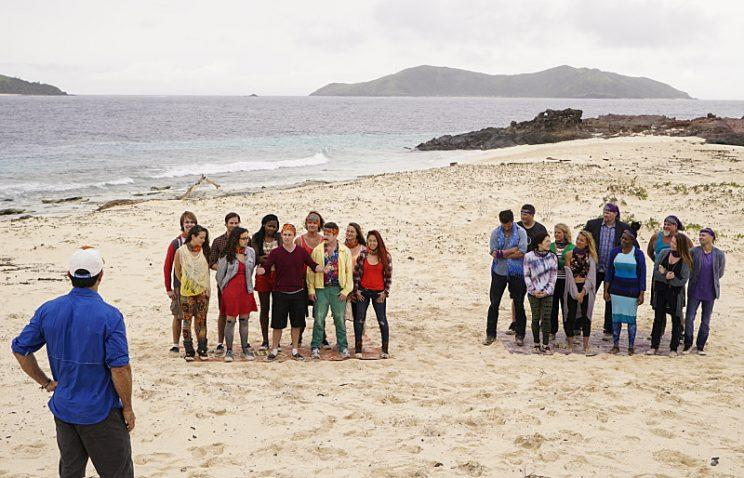Jeff Probst addresses the newly formed tribes on SURVIVOR: Millennials vs. Gen. X, when the Emmy Award-winning series returns for its 33rd season with a special 90-minute premiere, Wednesday, Sept. 21 (8:00-9:30 PM, ET/PT) on the CBS Television Network. Photo: Robert Voets/CBS Entertainment ©2016 CBS Broadcasting, Inc. All Rights Reserved.