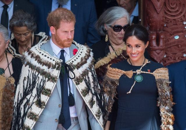 New Zealand was included in the couple's tour in 2018 (Dominic Lipinski/PA)