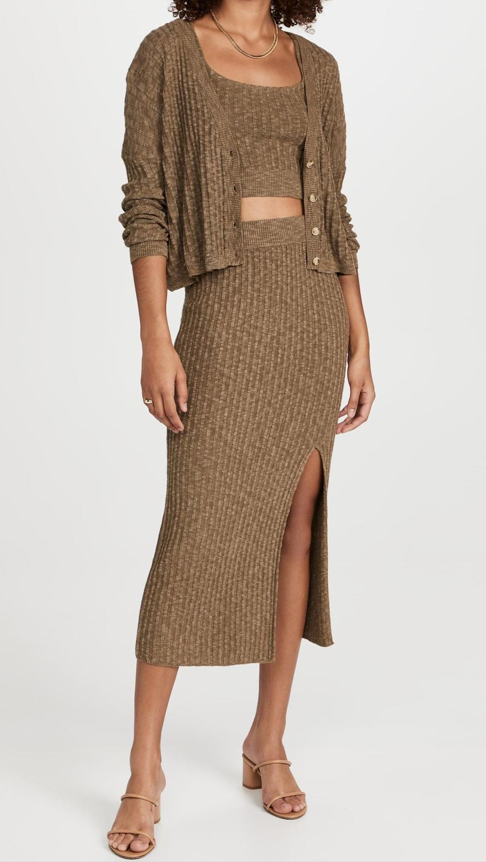<p>We want to wear this <span>Saylor Tiggy 3 Piece Set</span> ($297) every single day. You can even mix and match the pieces.</p>