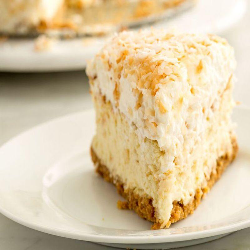 """<p>This decadent dessert is light, creamy, and topped with golden toasted coconut for that extra-special touch.</p><p><em><strong>Get the recipe from <a href=""""https://www.delish.com/cooking/recipe-ideas/recipes/a46483/toasted-coconut-cheesecake-recipe/"""" rel=""""nofollow noopener"""" target=""""_blank"""" data-ylk=""""slk:Delish"""" class=""""link rapid-noclick-resp"""">Delish</a>.</strong></em></p>"""