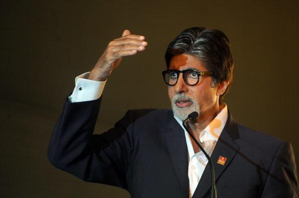 """(FILES) In a file picture taken on December 15, 2011, Bollywood icon Amitabh Bachchan speaks at a press conference to launch New Campaign for Polio in Mumbai. Veteran Bollywood superstar Amitabh Bachchan will undergo surgery later this week after suffering a bout of """"abdominal pain"""", the actor revealed on his blog on February 9, 2012.  AFP PHOTO/Punit PARANJPE/FILES (Photo credit should read PUNIT PARANJPE/AFP/Getty Images)"""