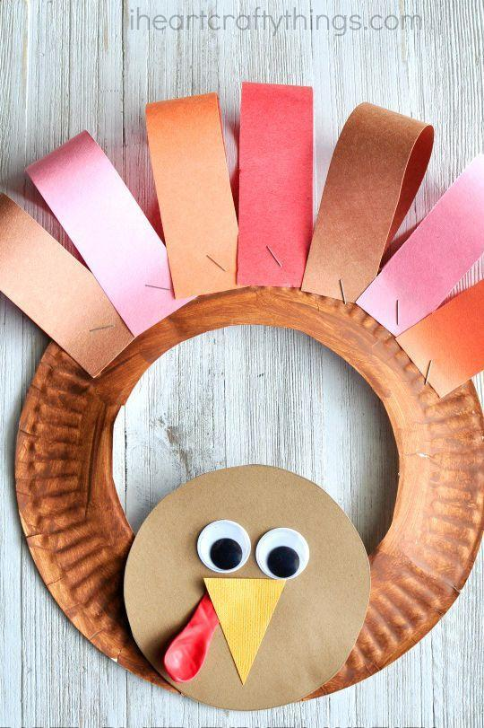 "<p>Even the youngest crafters can assemble this simple Thanksgiving turkey wreath made from paper plates and colorful construction paper.</p><p><strong>Get the tutorial at <a href=""https://iheartcraftythings.com/paper-plate-thanksgiving-turkey-wreath.html"" rel=""nofollow noopener"" target=""_blank"" data-ylk=""slk:I Heart Crafty Things"" class=""link rapid-noclick-resp"">I Heart Crafty Things</a>.</strong></p><p><a class=""link rapid-noclick-resp"" href=""https://www.amazon.com/SunWorks-Construction-9-Inches-12-Inches-100-Count/dp/B0017OJKLI/?tag=syn-yahoo-20&ascsubtag=%5Bartid%7C10050.g.22626432%5Bsrc%7Cyahoo-us"" rel=""nofollow noopener"" target=""_blank"" data-ylk=""slk:SHOP CONSTRUCTION PAPER"">SHOP CONSTRUCTION PAPER</a><br></p>"