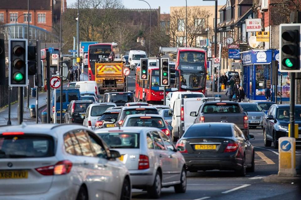 Traffic on the South Circular in Lewisham, south-east London (PA Wire)