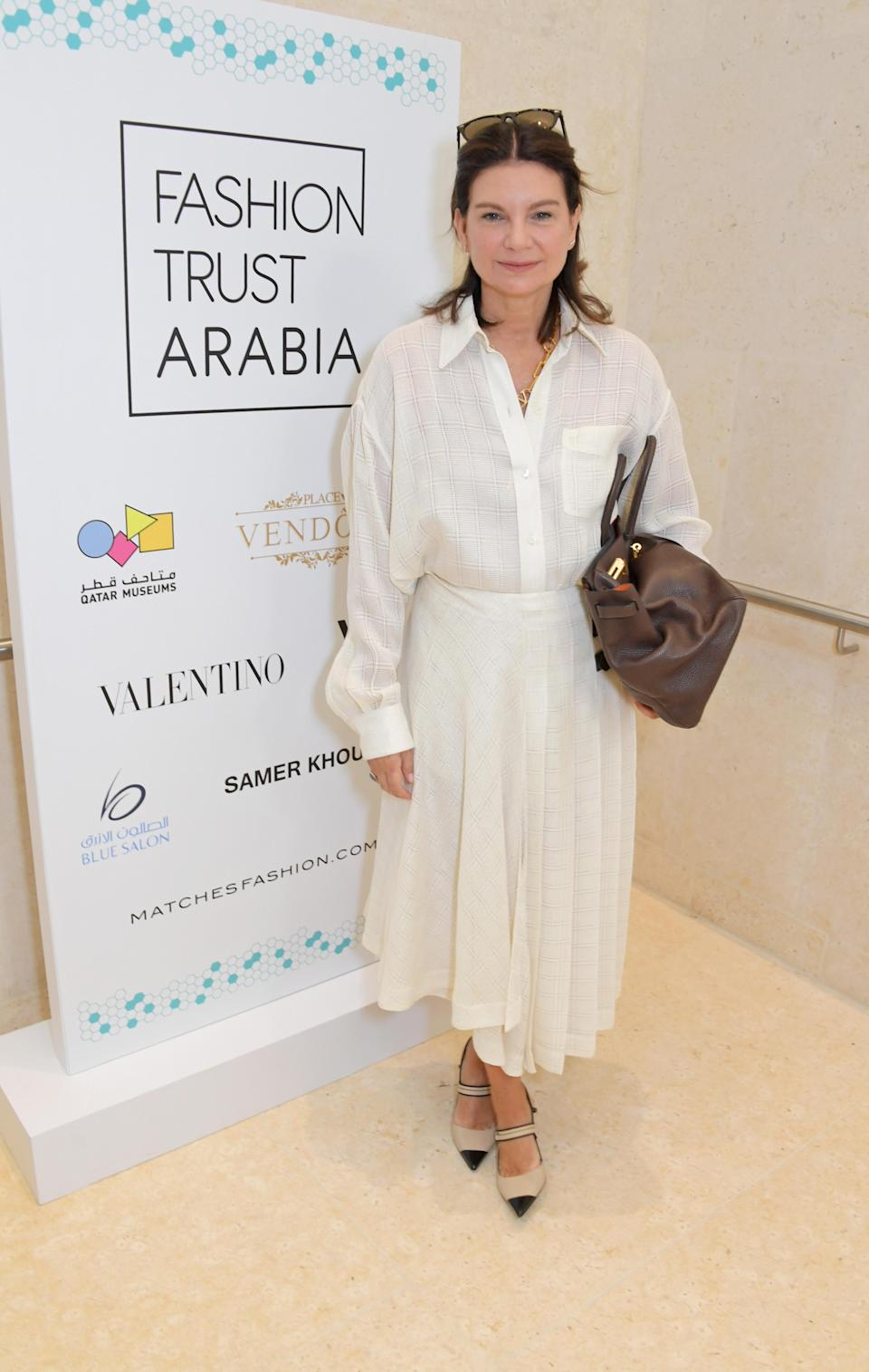 Dame Natalie Massenet attends the Fashion Trust Arabia Prize Judging Day on March 28, 2019 in Doha, Qatar. (Photo: David M. Benett/Dave Benett/Getty Images for Fashion Trust Arabia)