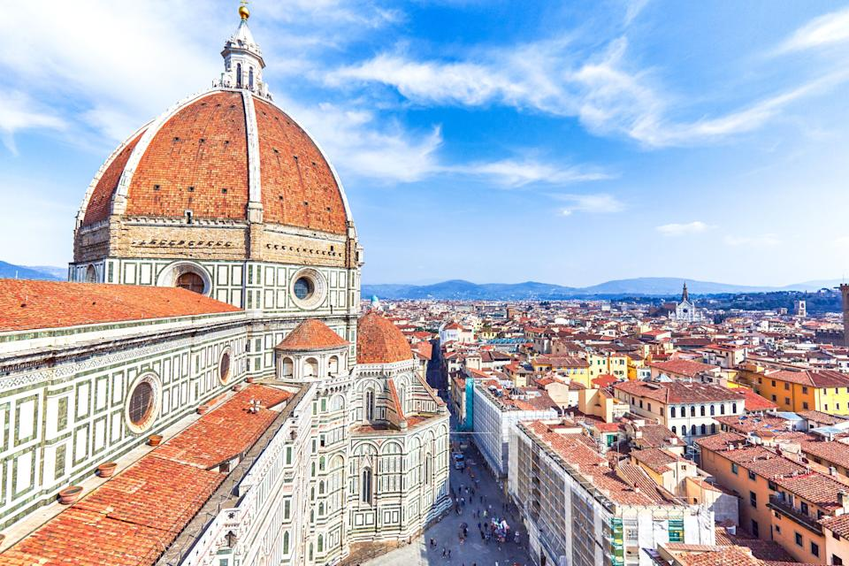 Famous dome of Florence with city skyline view, Florence, Italy. (Photo: Peter Unger via Getty Images)