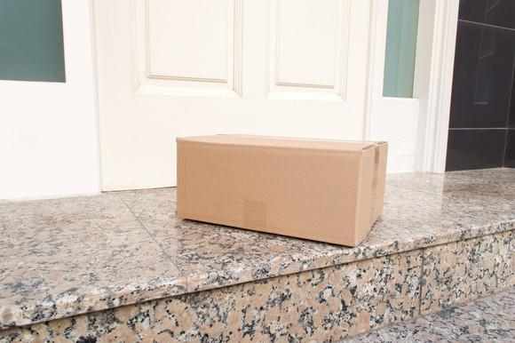 A package at a doorstep