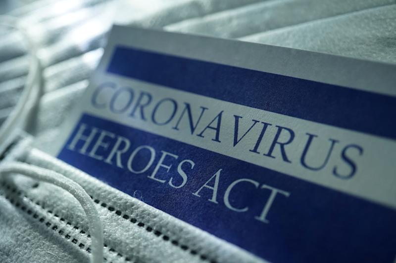 shot of coronavirus Heroes Act