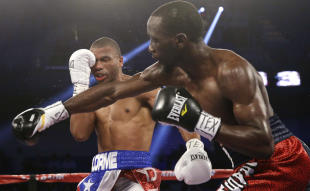 Terence Crawford, right, against Thomas Dulorme, is one of the world's best fighters. (AP)