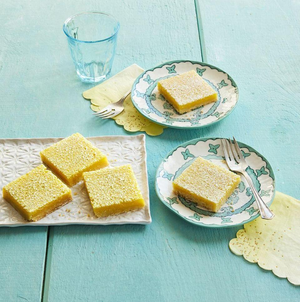 "<p>Make a batch of Ree's popular lemon bars for your Easter crew. They're super lemony and irresistible!</p><p><strong><a href=""https://www.thepioneerwoman.com/food-cooking/recipes/a12104/lemon-bars/"" rel=""nofollow noopener"" target=""_blank"" data-ylk=""slk:Get Ree's recipe."" class=""link rapid-noclick-resp"">Get Ree's recipe.</a></strong></p><p><strong><a class=""link rapid-noclick-resp"" href=""https://go.redirectingat.com?id=74968X1596630&url=https%3A%2F%2Fwww.walmart.com%2Fbrowse%2Fhome%2Fbaking-pastry-tools%2Fthe-pioneer-woman%2F4044_623679_8455465_9246304%2FYnJhbmQ6VGhlIFBpb25lZXIgV29tYW4ie&sref=https%3A%2F%2Fwww.thepioneerwoman.com%2Ffood-cooking%2Fmeals-menus%2Fg35408493%2Feaster-desserts%2F"" rel=""nofollow noopener"" target=""_blank"" data-ylk=""slk:SHOP BAKING TOOLS"">SHOP BAKING TOOLS</a></strong></p>"