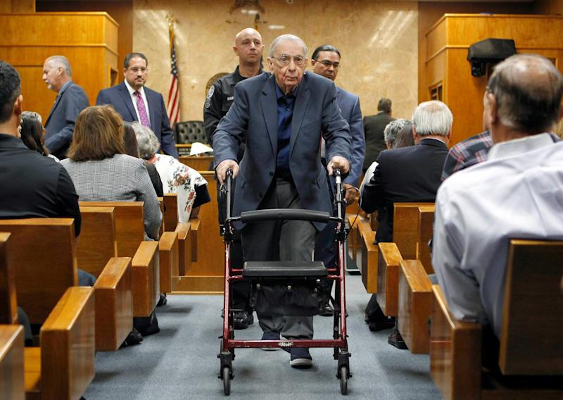 Former priest John Feit in court. (POOL New / Reuters)
