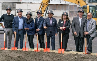 Andy Lakha, CEO of Fortress Development, Bellevue Mayor John Chelminiak, City Councilmember Jennifer Robertson, and other dignitaries attended the groundbreaking ceremony for Avenue Bellevue, the luxury condo, hotel and retail development opening Summer 2022. For more information visit www.liveatavenue.com.