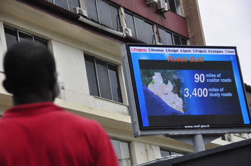 Liberia exposes finances with city billboard