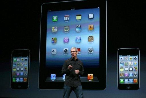 """Apple CEO Tim Cook speaks during an Apple special event at the Yerba Buena Center for the Arts in San Francisco, California. Cook called the launch """"the biggest thing to happen to iPhone since the iPhone."""""""