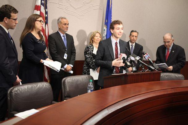 PHOTO: Will Haskell gives a press conference in the Connecticut senate. (Connecticut Senate Democrats)
