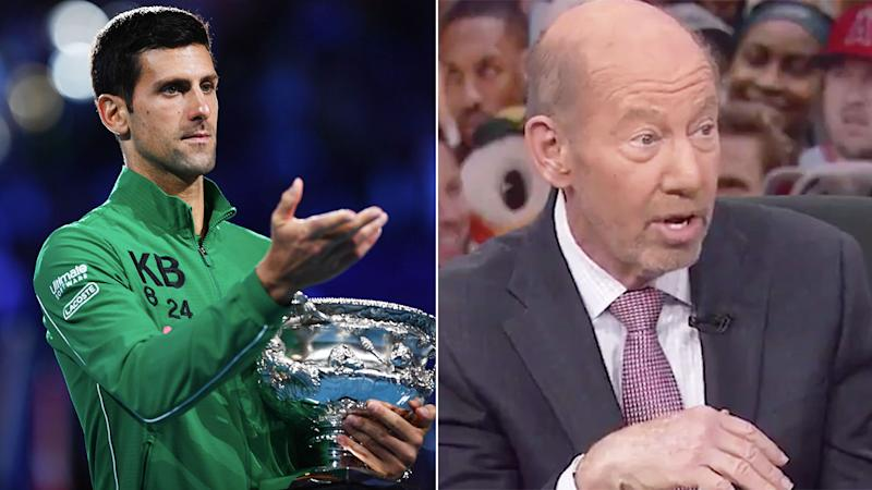 Novak Djokovic's latest major title hasn't convinced PTI host Tony Kornheiser about his standing in tennis. Pic: Getty/ESPN