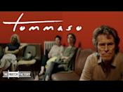 """<p>Willem Dafoe gives a raw, unvarnished performance as a proxy for Abel Ferrara in the writer/director's <em>Tommaso</em>, the story of an American filmmaker named Tommaso now residing in Rome with his young wife and child. Guided by a loose, jazzy, improvisatory spirit, Ferrara's quasi-autobiographical drama charts its protagonist as he works on a new project, teaches acting classes, attends AA meetings, and spars with his 29-year-old bride Nikki (Cristina Chiriac), whose father issues are at the root of her marriage to a much older man, just as Tommaso's desire to remain a vital presence in daughter Deedee's (Anna Ferrara) life stems from his own prior parental failures with his adopted children. Enlivened by an intoxicating feel for Rome's nocturnal streets, periodically segueing into fantasy sequences, and vacillating on a dime between laid-back romanticism and anxious volatility, the film refracts its maker's highly personal hang-ups through an intense and immediate lens. At the center of this guilt- and fury-driven tale, a magnificent Dafoe exudes inner torment and a yearning for salvation, as well as a self-loathing that feels destined to land him on a cross.</p><p><a class=""""link rapid-noclick-resp"""" href=""""https://www.amazon.com/Tommaso-Willem-Dafoe/dp/B08DXWJZ4G?tag=syn-yahoo-20&ascsubtag=%5Bartid%7C10054.g.29500577%5Bsrc%7Cyahoo-us"""" rel=""""nofollow noopener"""" target=""""_blank"""" data-ylk=""""slk:Watch Now"""">Watch Now</a></p><p><a href=""""https://www.youtube.com/watch?v=wkUOLMXk_Xg"""" rel=""""nofollow noopener"""" target=""""_blank"""" data-ylk=""""slk:See the original post on Youtube"""" class=""""link rapid-noclick-resp"""">See the original post on Youtube</a></p>"""