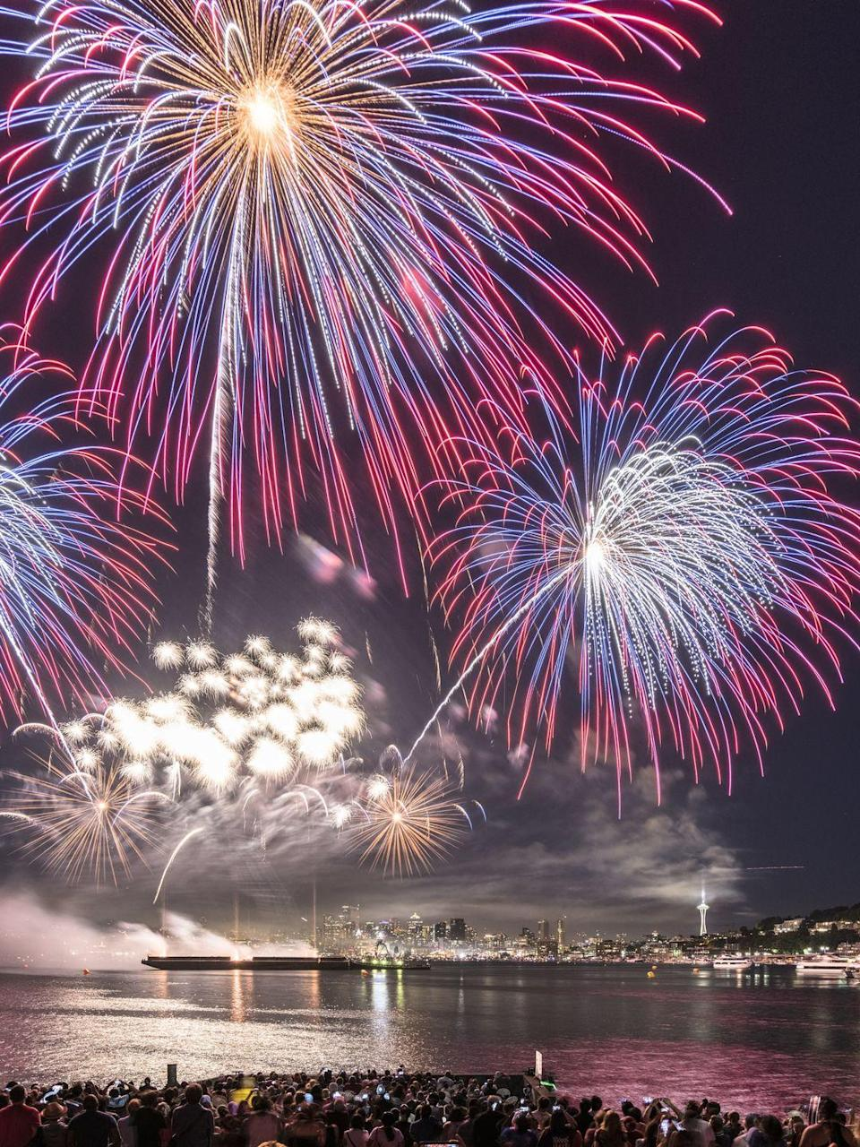 """<p>Of course, you might still be able to enjoy some fireworks safely from your home this year — in which case, don't forget to sit back and enjoy (and practice good <a href=""""https://www.goodhousekeeping.com/holidays/a24586/fireworks-sparkler-safety/"""" rel=""""nofollow noopener"""" target=""""_blank"""" data-ylk=""""slk:fireworks safety"""" class=""""link rapid-noclick-resp"""">fireworks safety</a>)!<br></p><p> <a class=""""link rapid-noclick-resp"""" href=""""https://www.amazon.com/Outdoor-Water-Resistant-Waterproof-Sandproof-SC-CM-01/dp/B01FI1QXS8/?tag=syn-yahoo-20&ascsubtag=%5Bartid%7C10055.g.21749867%5Bsrc%7Cyahoo-us"""" rel=""""nofollow noopener"""" target=""""_blank"""" data-ylk=""""slk:SHOP OUTDOOR BLANKETS"""">SHOP OUTDOOR BLANKETS</a> </p><p><strong>RELATED: </strong><a href=""""https://www.goodhousekeeping.com/holidays/g3681/holiday-weekend-safety-dangers/"""" rel=""""nofollow noopener"""" target=""""_blank"""" data-ylk=""""slk:Here's Everything You Need to Know to Stay Safe This 4th of July"""" class=""""link rapid-noclick-resp"""">Here's Everything You Need to Know to Stay Safe This 4th of July</a></p>"""