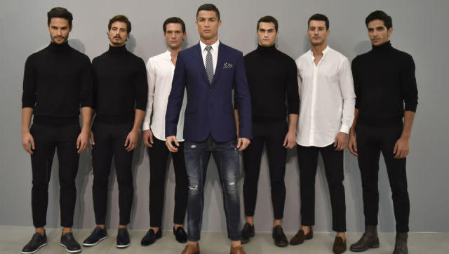 <p>Cristiano Ronaldo launched a brand new fashion website under the CR7 brand, adding a line of shirts to the underwear range he wowed us with last year.</p> <br><p>If you like your clothes hair-raisingly tight and your colours primary, look no further, you're in for a sartorial extravaganza. Expect to see his new line of shirts in a TK Maxx near you soon.</p> <br>