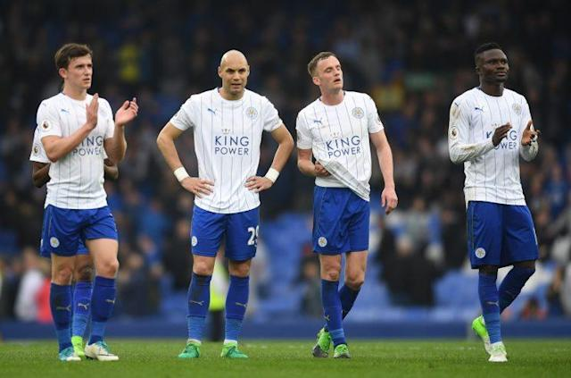 Leicester players reflect on a loss at the full time whistle