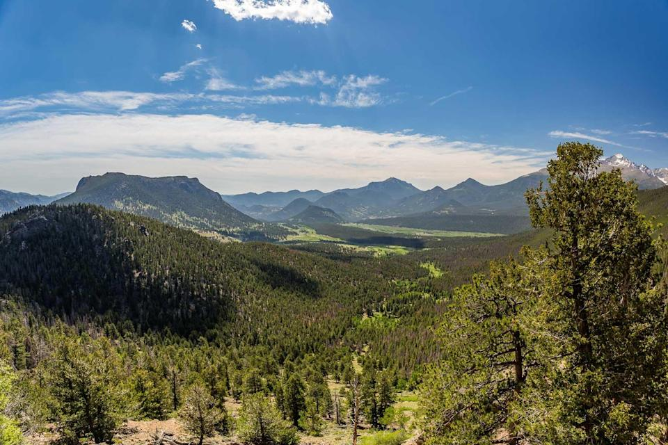Many Parks Curve Overlook in Rocky Mountain National Park