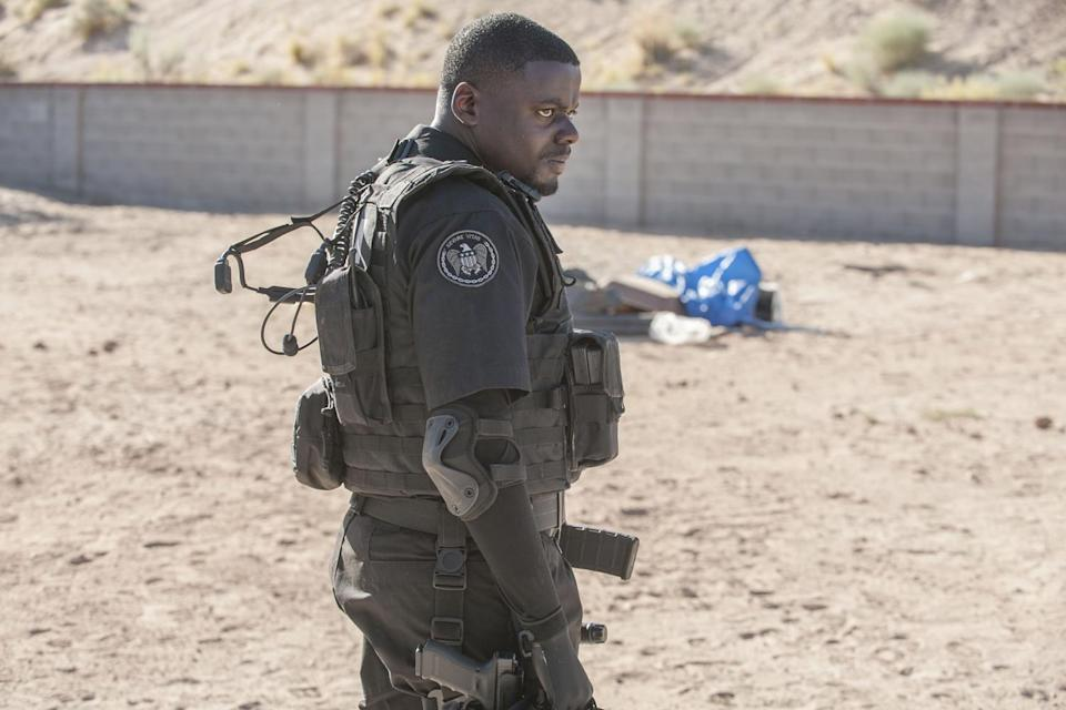 <p>The British actor played a rookie FBI agent alongside partner Kate, played by Emily Blunt, in the 2015 action film. Although a supporting character, Kaluuya still made his presence known throughout the film while delivering the perfect American accent.</p>