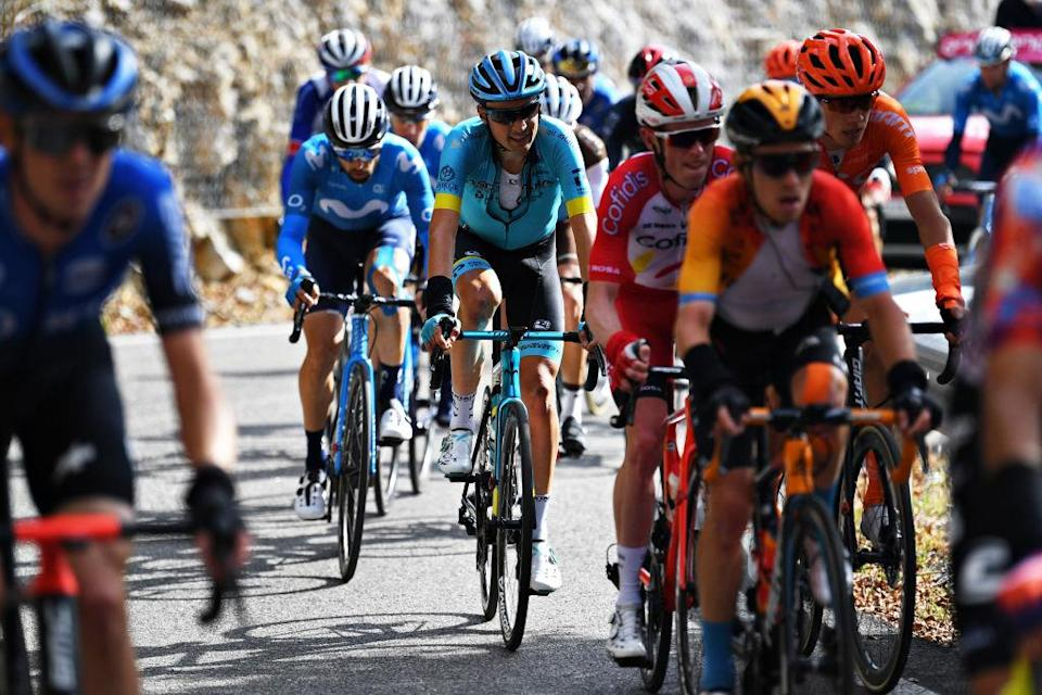 MADONNA DI CAMPIGLIO ITALY  OCTOBER 21 Oscar Rodriguez Garaikoetxea of Spain and Astana Pro Team  Breakaway  during the 103rd Giro dItalia 2020 Stage 17 a 203km stage from Bassano del Grappa to Madonna di Campiglio 1514m  girodiitalia  Giro  on October 21 2020 in Madonna di Campiglio Italy Photo by Tim de WaeleGetty Images