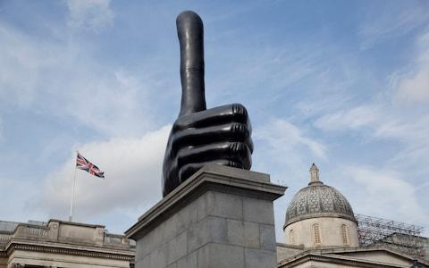 One of the many occupants of the fourth plinth: 'Really Good' by David Shrigley - Credit: Heathcliff O'Malley
