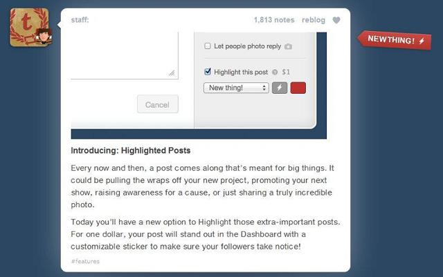 Tumblr Introduces Pinned Posts [PICS]