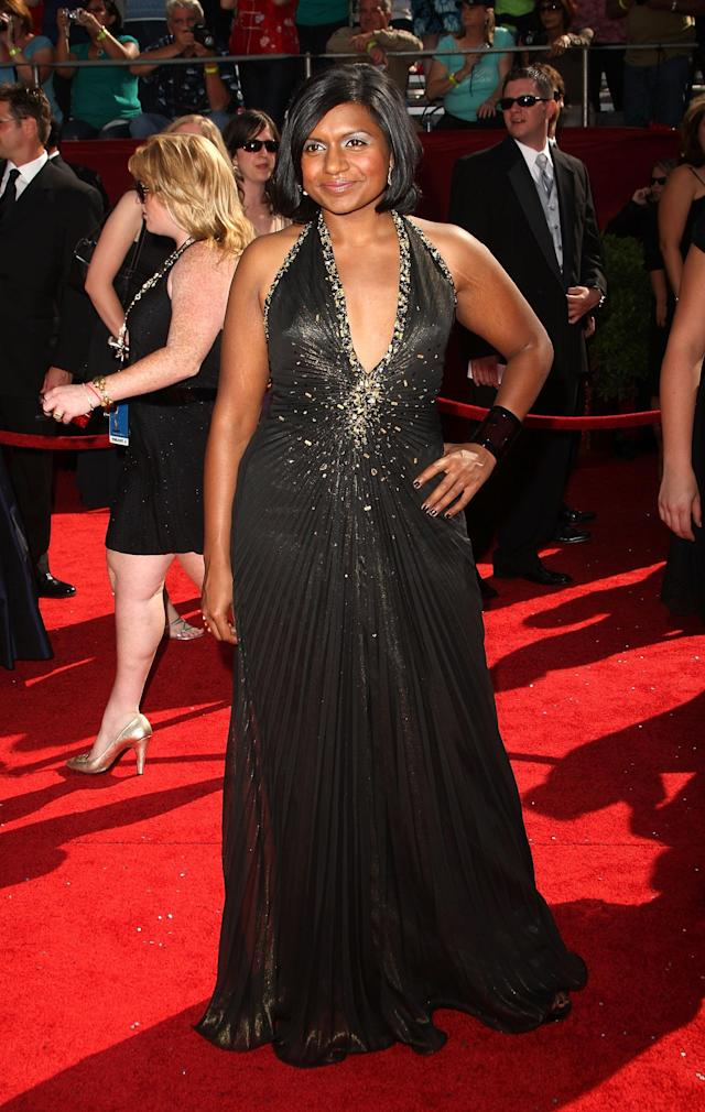 Actress Mindy Kaling arrives at the 60th Primetime Emmy Awards at the Nokia Theater on September 21, 2008 in Los Angeles, California. (Photo by Jason Merritt/FilmMagic)