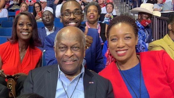 PHOTO: In this photo posted to his Twitter account in June 20, 2020, Herman Cain is shown at a rally for President Trump in Tulsa. (Herman Cain/Twitter)