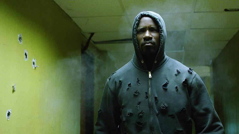"""<p>""""When I think about what's going on in the world right now, the world is ready for a bulletproof black man,"""" executive producer Cheo Hodari Coker told the crowd at Comic-Con, where a teaser trailer debuted showing Luke Cage under heavy fire in the hallway of a Harlem safe house. Whether you only saw that preview, or you later watched the full sequence in the show's third episode, the message was received. —<em>MB</em><br>(Photo: Netflix) </p>"""