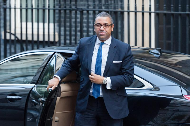 LONDON, UNITED KINGDOM - OCTOBER 22: Conservative Party Chairman and Minister without Portfolio James Cleverly arrives for the Cabinet meeting at 10 Downing Street on 22 October, 2019 in London, England. Today, MPs in the House of Commons are due to debate and vote on the European Union Withdrawal Agreement bill, known as the second reading and on the programme motion of Boris Johnson's plan to complete the Brexit legislation within three days.- PHOTOGRAPH BY Wiktor Szymanowicz / Barcroft Media (Photo credit should read Wiktor Szymanowicz / Barcroft Media via Getty Images)